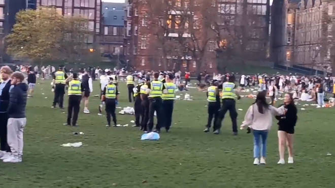 Police have said officers will be deployed for all upcoming weekends after drunken crowds descended into fighting.