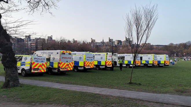 A large number of police were deployed to Edinburgh Meadows on Saturday.