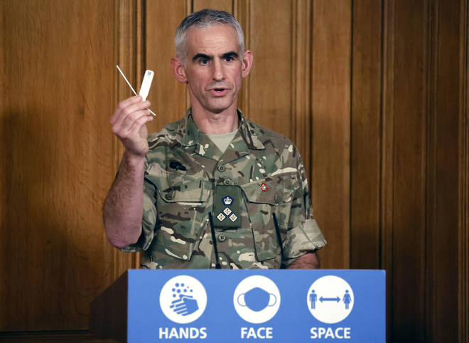 The army helped coordinate the mass testing pilot in Liverpool in November.