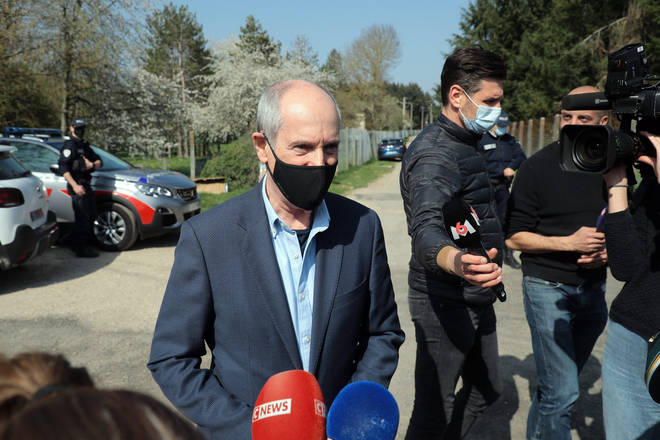 Local mayor Geoffrey Guy spoke to the media outside the Tapie's house.
