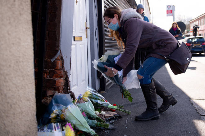 Many came to lay flowers on the High Street in Brownhills