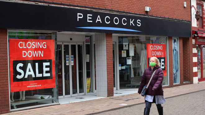 A Peacocks store