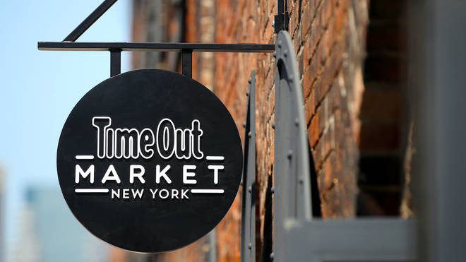 A Time Out Market sign in New York
