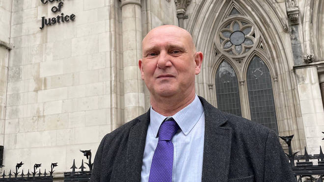 Andrew Green outside the Royal Courts of Justice in London