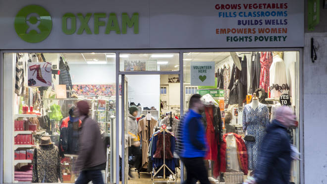 General view of an Oxfam charity shop in Brighton