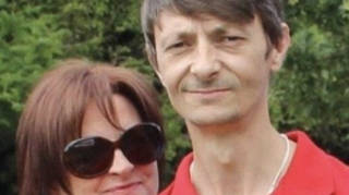 Alan Willson, 46, pictured with wife Annie, is fighting for his life in hospital