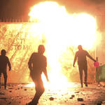 The caller was speaking after a further night of violence in NI