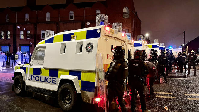 A total of 55 police officers have been injured