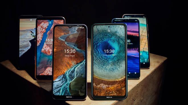 HMD Global's new range of Nokia smartphones.