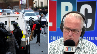 The caller was speaking to LBC's Eddie Mair