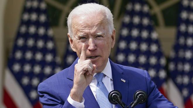 US President Joe Biden speaks about gun violence prevention in the Rose Garden at the White House