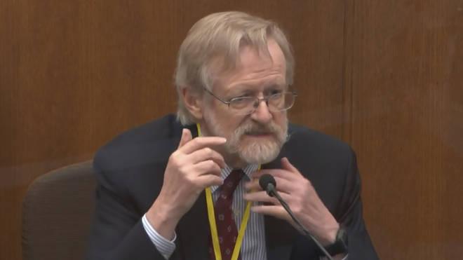 Dr Martin Tobin gives evidence at former police officer Derek Chauvin's murder trial