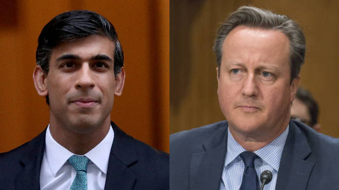 Rishi Sunak and David Cameron exchanged messages over Greensill