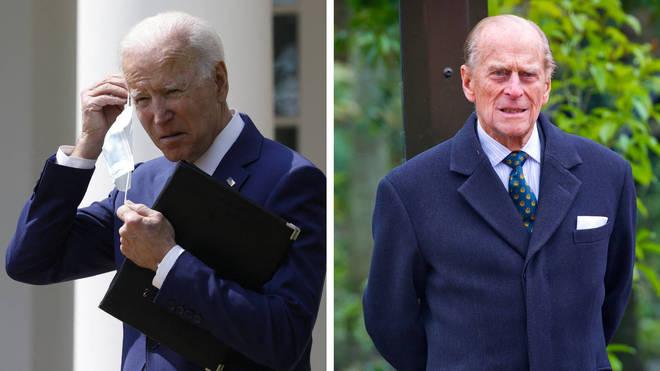 Joe Biden has paid tribute to the Duke of Edinburgh.