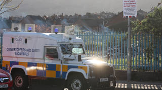 Police said a suspicious object was found in north Belfast on Friday evening