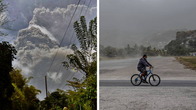 Around 16,000 people have been displaced after La Soufriere erupted.