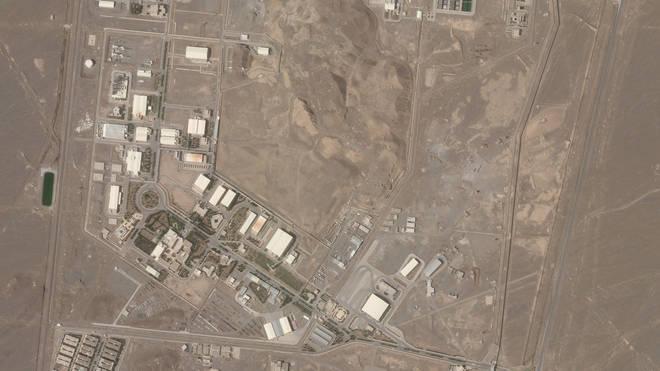 Aerial view of Iran's Natanz nuclear facility