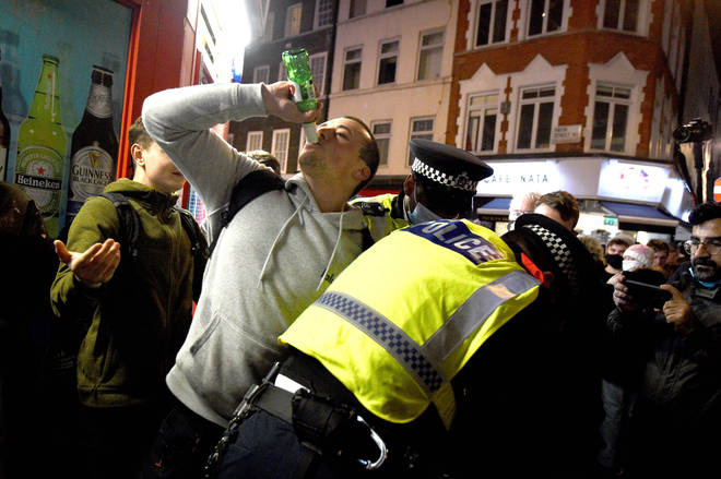 There were chaotic scenes as crowds descended on Soho in London following lockdown easings last year.