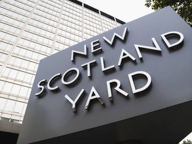 """The Met Police say they believe a """"number of suspects...left the address prior to the arrival of the police""""."""