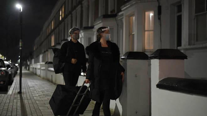 The beauty team arrived in Balham, south London, as the clock struck 12