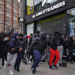 Shoppers scrambled into the Oxford Street JD Sports first thing Monday morning