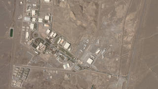 Iranian nuclear site seen from space
