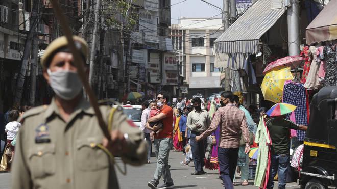 Sunday market in Jammu