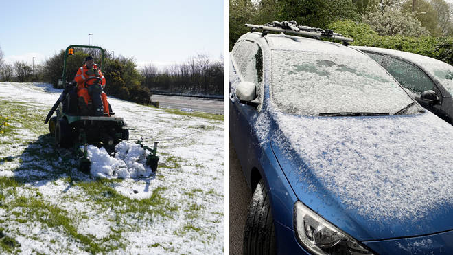 England faced a smattering of snow as pub-goers were given their first taste of a draft pint since lockdown