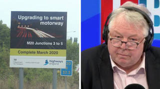 Nick Ferrari has previously questioned the safety of smart motorways