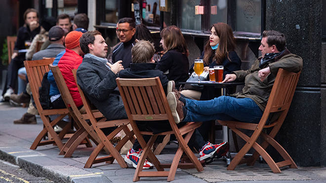 Pubs and restaurants have been allowed to open outdoors in England on April12th