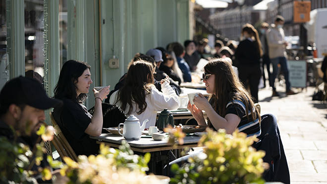Restaurants are also allowed to serve food and drink outside under the new restrictions