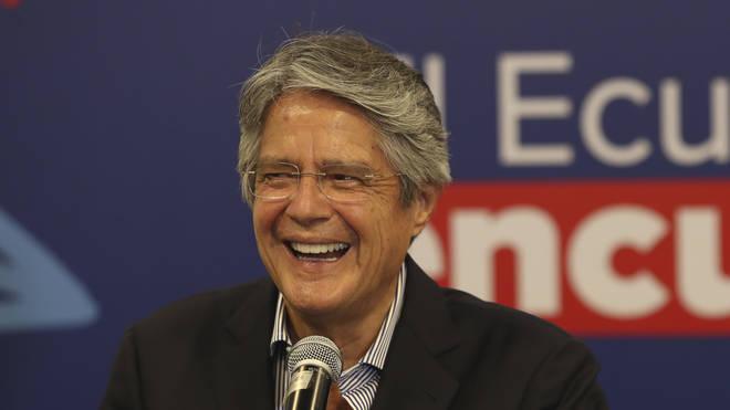 Ecuador's president-elect Guillermo Lasso smiles