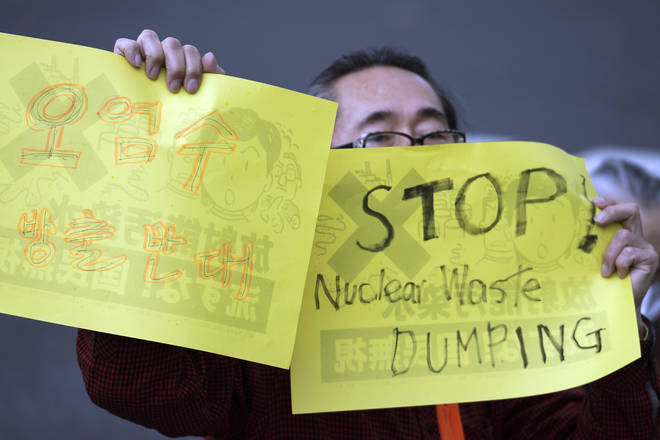 Plans to dump nuclear waterwaste into the Pacific Ocean have been met by protests