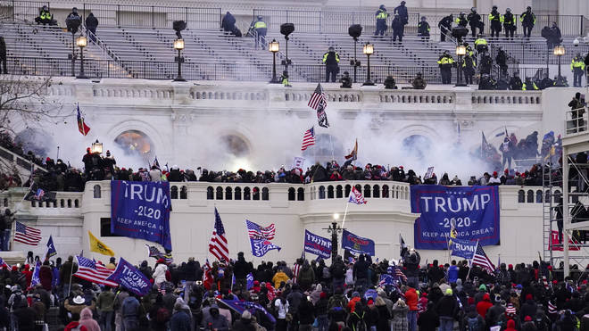 People storm the Capitol in Washington on January 6