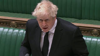 Boris Johnson at Wednesday's PMQs