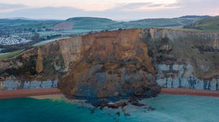 4,000 tonnes of land came down on the beach in Dorset