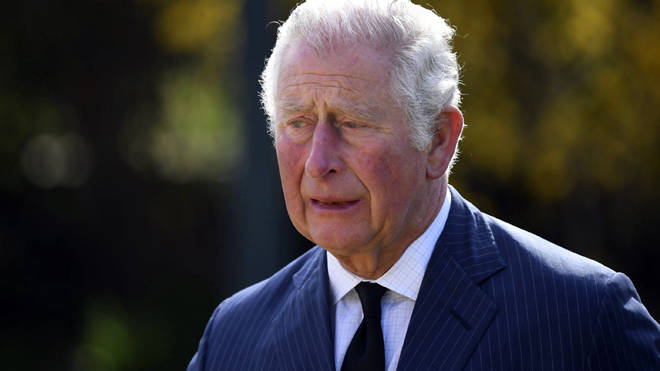 Prince Charles was visibly emotional as he viewed the tributes to his father