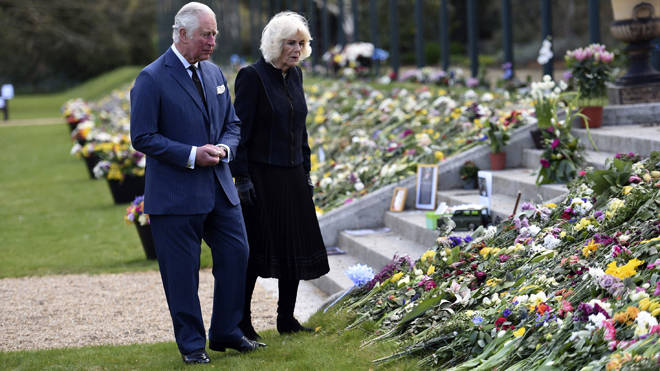 The flowers had been moved away from royal palaces due to covid concerns