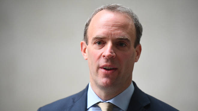 Dominic Raab has accused Russian intelligence of being behind a major cyber attack