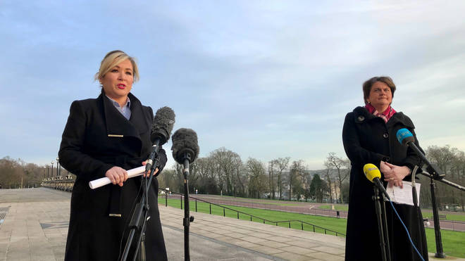 Executive leaders Arlene Foster and Michelle O'Neill announced the fast-track