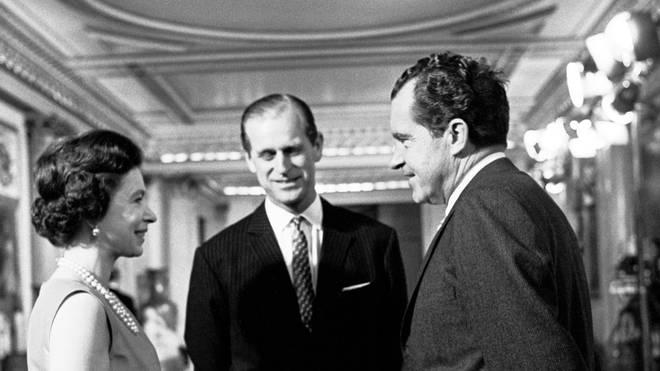 The Queen, Duke of Edinburgh and Richard Nixon