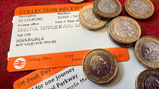 Train tickets and cash