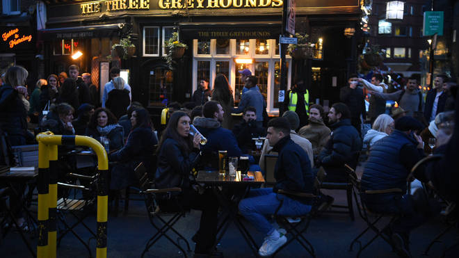 Revellers have flocked back to England's pubs