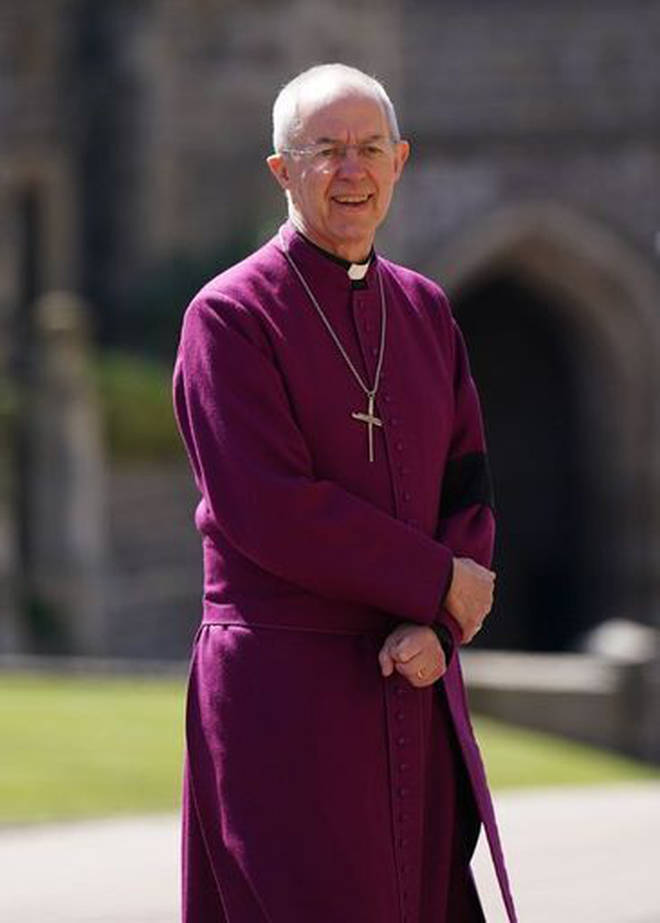 The Archbishop of Canterbury Justin Welby at Windsor Castle