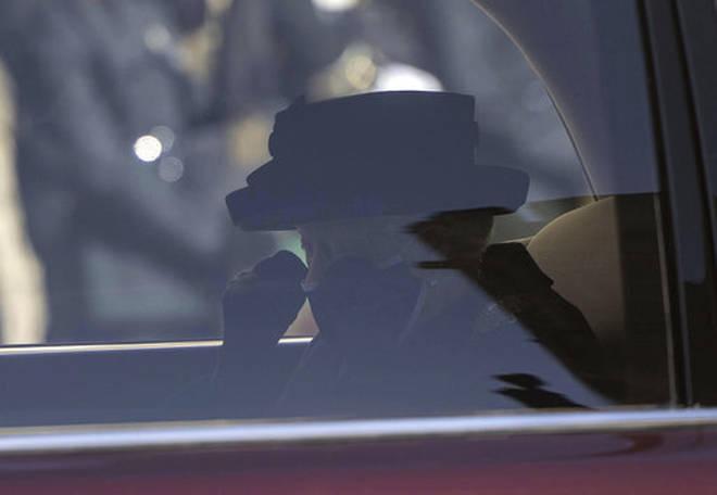 Queen Elizabeth II arrives ahead of the funeral