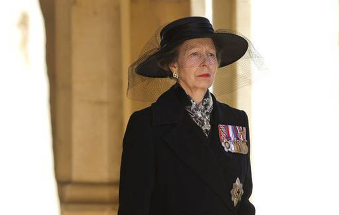 The Princess Royal ahead of the funeral