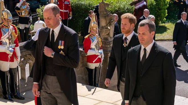 The Duke of Cambridge, The Duke of Sussex and Peter Phillips