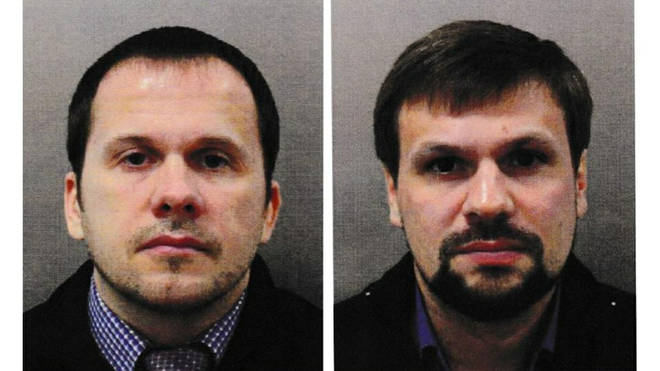 Alexander Petrov, 41, and Ruslan Boshirov, 43 are being hunted by Czech police