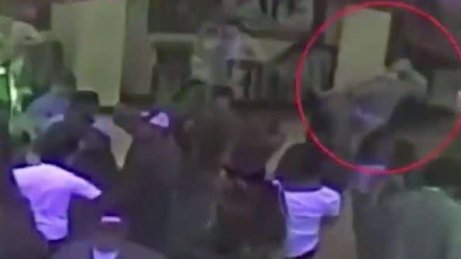 Moment Woman Takes Down Bouncer Over Mistaken Grope