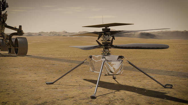 Nasa's Ingenuity helicopter has made history after a successful flight on Mars on Monday